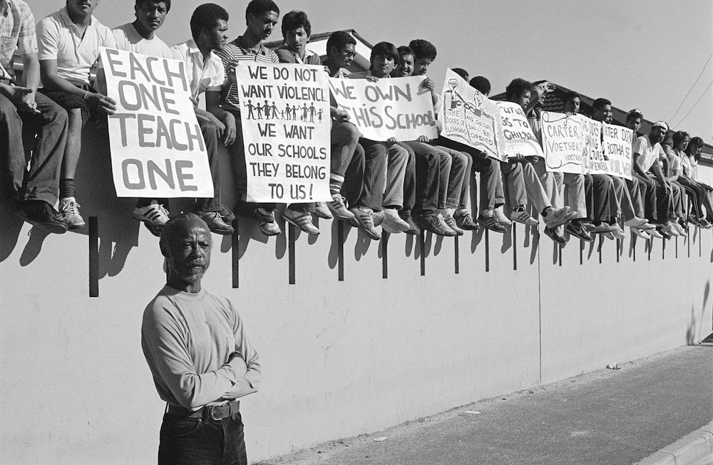 South African School kids protesting during Apartheid